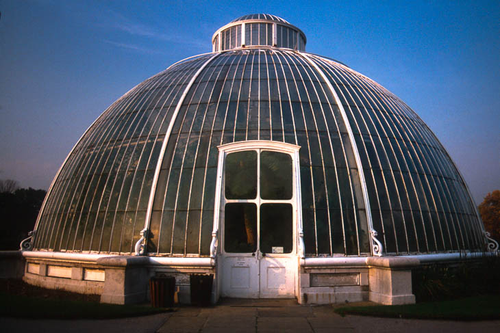 The Royal Botanic Gardens, Kew, usually referred to as Kew Gardens, comprises 121 hectares of gardens and botanical glasshouses between Richmond and Kew in southwest London, England.